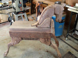 Progress with Becky's Horse created by Al Carr of Native Texan Horses in Fredericksburg, TX.